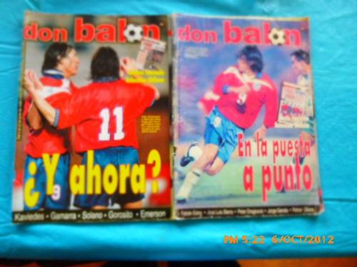 6 revistas don balon entre 372-394  universidad de chil(391w