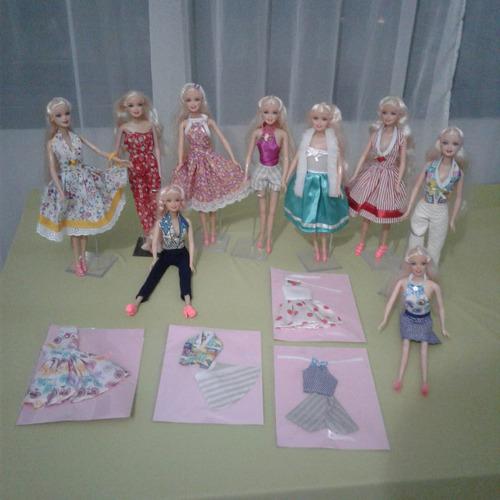 6 roupinhas baratinhas para barbie e frozen boneca barbie