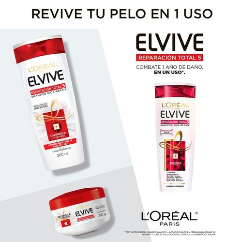 6 shampoo elvive reparación total 400ml +6 acondicionador