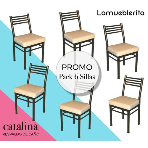 6 silla caño reforzado catalina