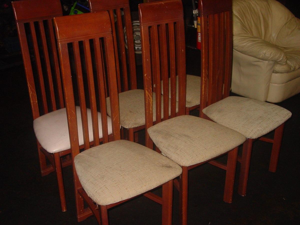 6 sillas comedor usadas buenas condiciones bs