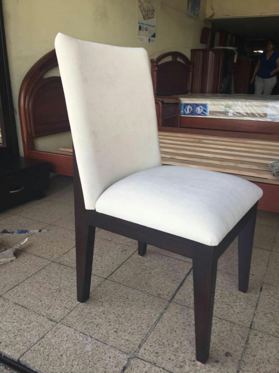 6 sillas de juego comedor madera roble sala negociable u for Juego de comedor de madera de 6 sillas