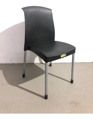 6 sillas plasticas malba negras envio gratis