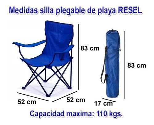 6 sillas plegables de playa  alberca camping outdoors
