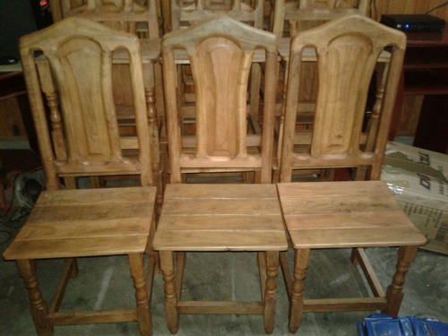 6 sillas tamara de algarrobo
