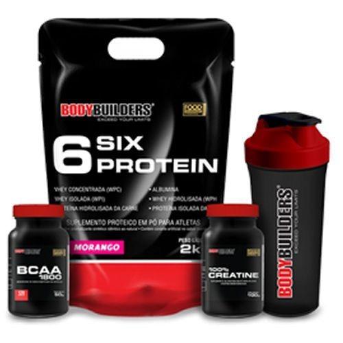 6 six protein 2000g moran   bcaa 1800 120 cap  creatine  coq