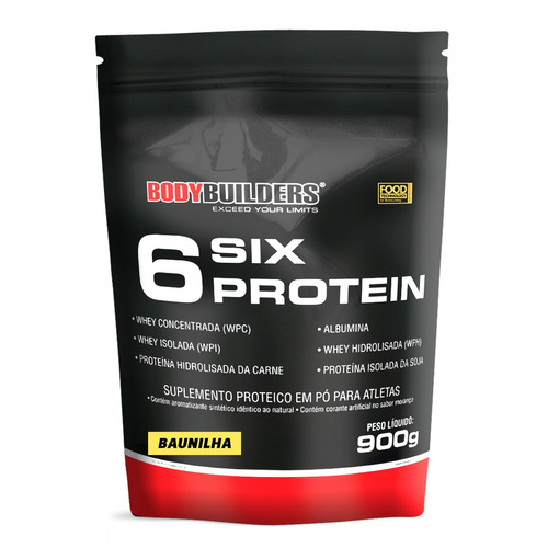 6 six protein 900g baunilha