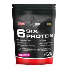 6 Six Protein 900g Morango