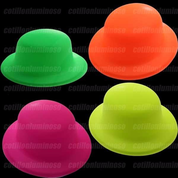 aad369092bff6 6 Sombreros Gorros Bombin Fluor Carnaval Cotillon Luminos -   59