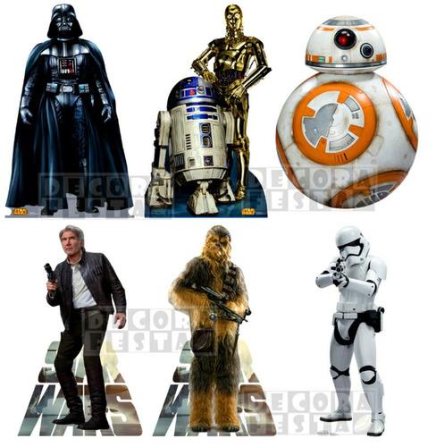 6 star wars displays mesa 22cm decoração festa cenário promo