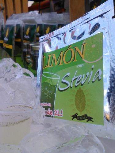 6 stevia liquida + 5 naturalitos.+ 1 k de sal + 2 bolsas 25g
