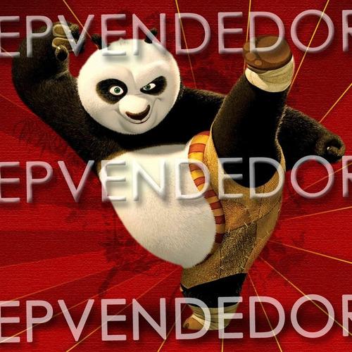 6 sticker adhesivos kung fu panda calcomanias 8x8