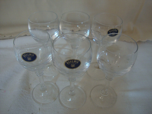 6 taças cristal  bohemia