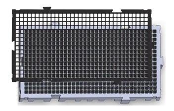 6 tapete plástico estrado 50 x 25 x 2,5cm preto multiusos