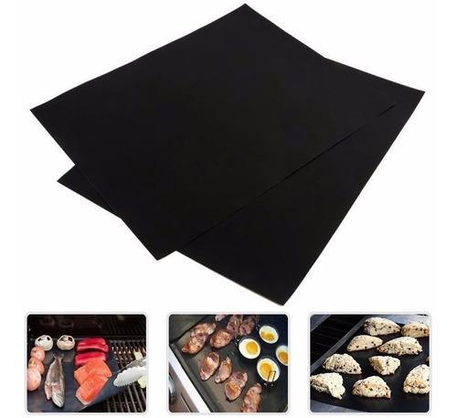 6 tapetes bbq grill mat para asador/ parrillas reusables