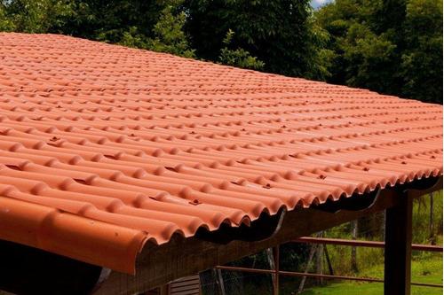 6 - telhas pvc colonial ecológica 2,30m x 0,88m + 2 kits fix