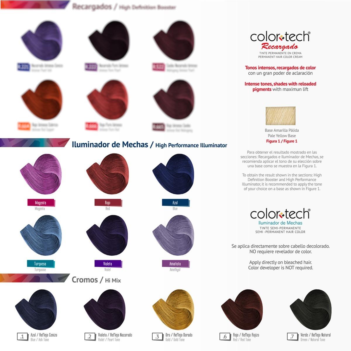 d244a395b2 6 Tintes Color Tech De 90 G Con Peróxido 20 Vol De 135 Ml - $ 350.00 ...