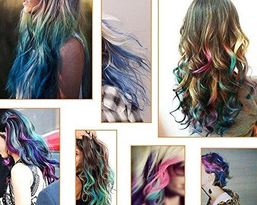 6 tintes para cabello kyerivs color temporal.