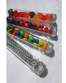 6 tubos golosineros 15.5cm tubo de ensayo souvenirs candy
