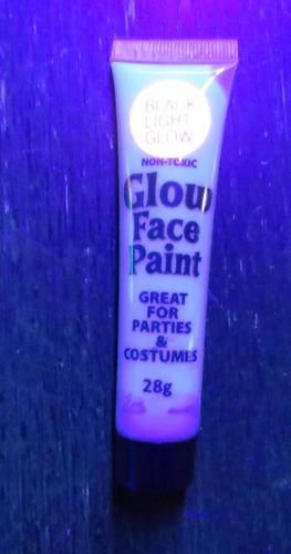 6 tubos pintura neon uv body paint black party luz negra