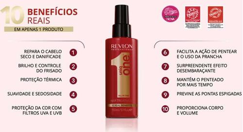 6 uniq one revlon hair treatment 10 em 1-150ml frete barato!