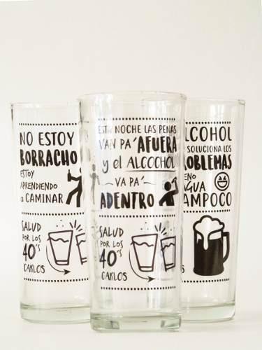 6 vasos largos personalizados cumpleaños,matrimonios,recuer