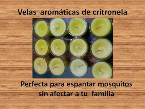 6 velas de citronella, aromáticas y decorativas,citronela