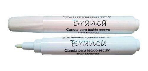 6 x caneta cortes tecido marcador industrial branca *fraca*