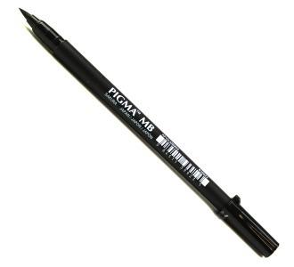 6 x caneta marcador pigma sakura preta fb mb bb