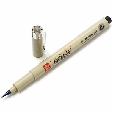 6 x kit caneta pincel pigma brush sakura cj 6 cores *frete+b