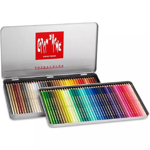 6 x lápis de cor aquarelável caran d'ache supracolor