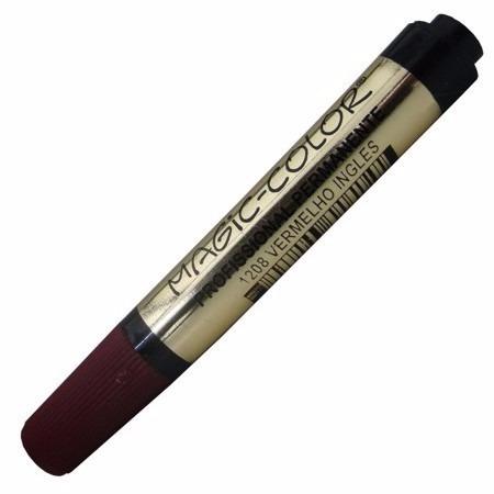 6 x marcador magic color s.ouro 1208 vermelho inglês 1 ponta