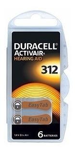 60 baterias pilhas aparelho auditivo da312 / pr41 - duracell