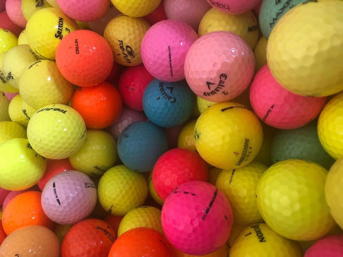 60 bolas de golf  de colores
