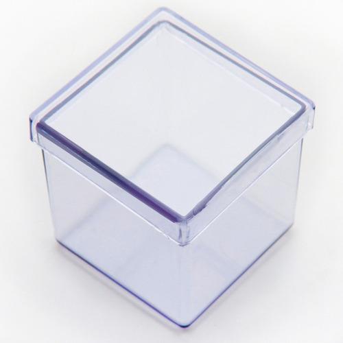 60 caixinha de acrilico 5x5 transparente