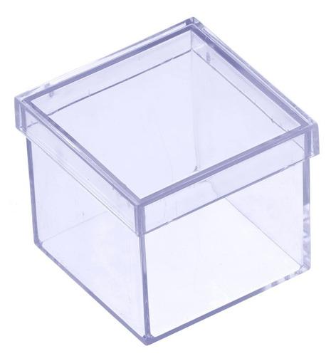 60 caixinhas acrílico para personalizar lembrancinha tam.4x4
