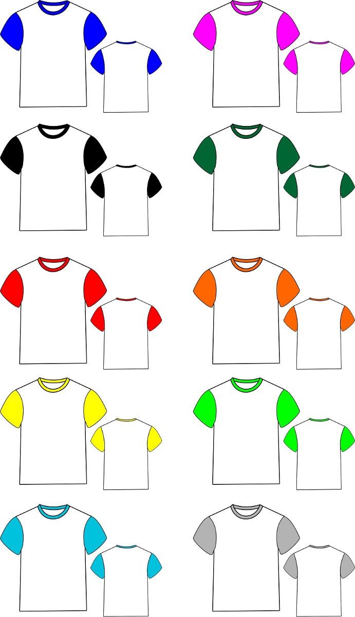 a0bbef65d 60 camisetas   mangas coloridas 100% poliéster p  sublimação. Carregando  zoom.