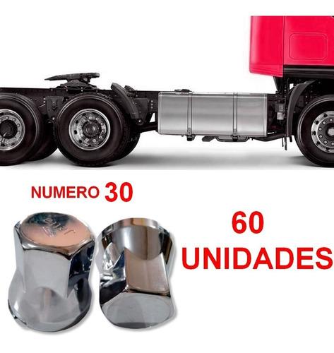 60 capa de porca cromada para caminhão n 30