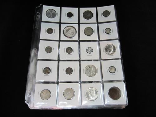 60 cartones cowens para monedas de diferentes tamaños