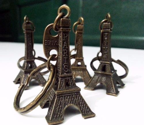 60 chaveiro torre eiffel frança paris cor bronze metal