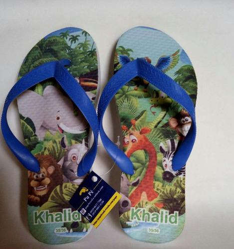 60 chinelos sandálias aniversário personalizado 12x s/ juros