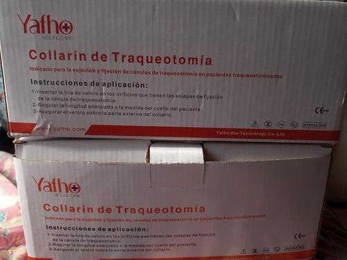 60 collarines para traqueostomía y filtros