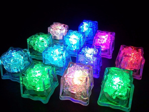 60 cubos de hielos luminosos led sumergibles