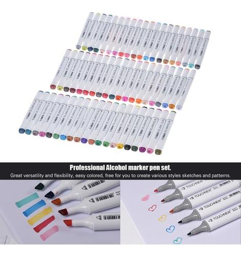 60 de color dual gemelo punta marcador marcado plumas arte b