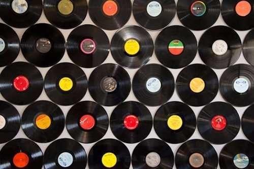 60 discos de vinil artesanato decoração 2 tam frete grátis