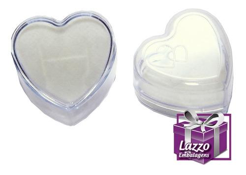 60 embalagem caixinha coração acrilico para anel atacado