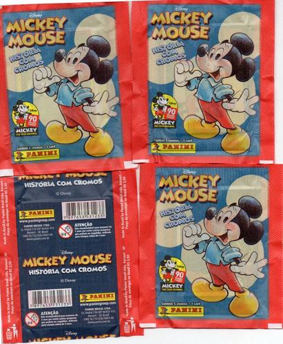 60 envelope mickey mouse 90 anos 300 figurinhas e 60 cards