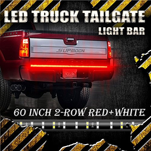 60 inch 2 row led truck tailgate light bar strip redwhite r 60 inch 2 row led truck tailgate light bar strip redwhite r aloadofball