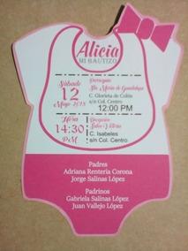 60 Invitaciones Pañalero Baby Shower Bautizo