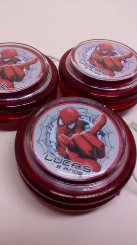 60 ioios personalizados homem aranha - cor vermelha